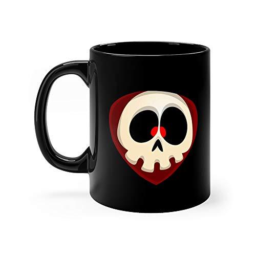 Cartoon Grim Reaper Face Avatar Cute Of Skull Character Favorite Drink Mug Ceramic 11oz Cup -