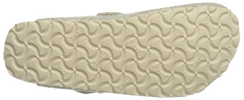 Papillio Boston Wollfilz, Women's Clogs Beige (Shiny Felt Off White)
