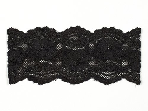 Ally Rose Stretch Lace Headband One Size 2.5 Inches Wide