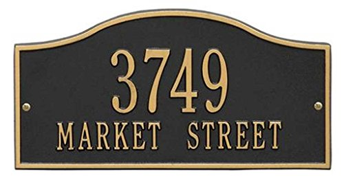Personalized Cast Metal Address plaque display your address and street name - Rolling Hills # P2629 Custom House Number Sign by Comfort House