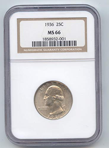 1936 Washington Quarter MS-66 NGC