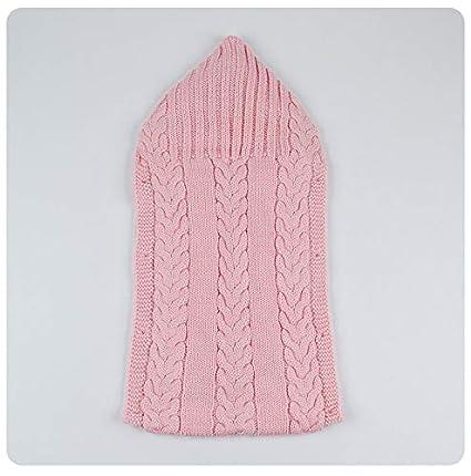 QIQI Bebé de Punto Saco de Dormir, bebé más Terciopelo Grueso Knit Lindo Saco de
