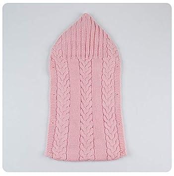QIQI Bebé de Punto Saco de Dormir, bebé más Terciopelo Grueso Knit Lindo Saco de Dormir otoño e Invierno niños y niñas Productos Infantiles,Pink: Amazon.es: ...