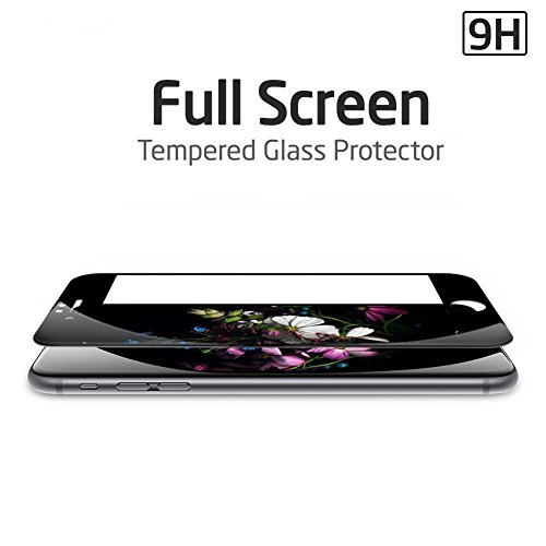 Amovo Screen Protector for iPhone 6s Plus [iPhone 6 Plus/6s Plus FULL COVER Tempered-Glass], Premium HD 0.26mm Round Angle Anti-Fingerprint Screen Glass Protector for iPhone 6 Plus (5.5'') (Black) by Amovo (Image #2)