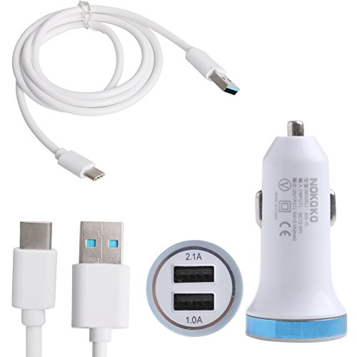 Price comparison product image Bayeer Type C 3.1 to USB 3.0 Charging Cable+ LED Light Car Charger for LG G5 Nexus 5X 6P