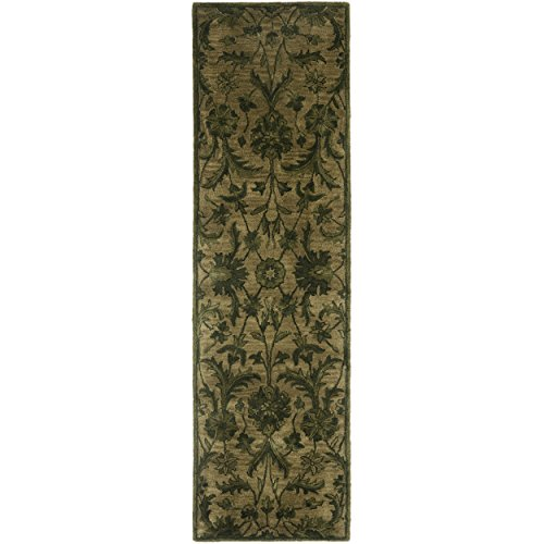 Safavieh Antiquities Collection AT824A Handmade Traditional Olive and Green Wool Runner (2'3