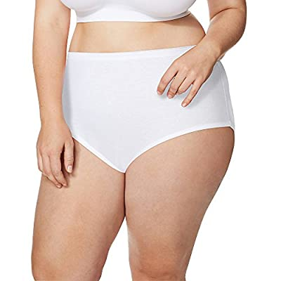 Just My Size Cool High-Waist Women's Cotton Brief Panties 5-Pair Pack