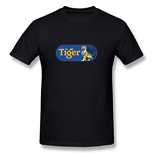 - Van Men's Asia Pacific Breweries Tiger Beer Crystal Logo T-Shirts XL Black