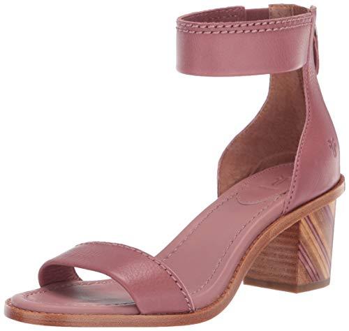 FRYE Women's Brielle BIAS Zip Flat Sandal, Mauve, 6.5 M - Strap Heels Frye Ankle