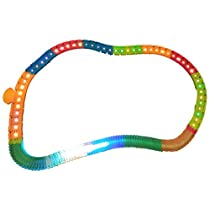 2 in 1 LED Tracks (50pcs) + Glowing in The Dark Tracks (80pcs) Speedway Tracks Set