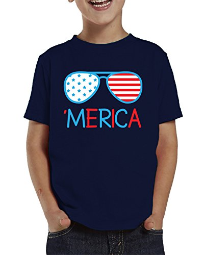 Merica Sunglasses Toddler T-Shirt, SpiritForged Apparel Navy - Veteran Sunglasses