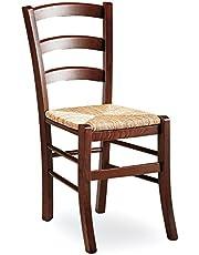ZStyle Krzesło Venezia drewno orzech restauracja słoma agroturyzm kuchnia dom klasyczna sztuka (słoma)