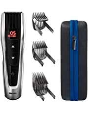 PHILIPS Hair Clipper Series 9000, Motorized Combs, 60 length settings, Li-Ion battery, 60min/120 Charge/Run time, 100% Waterproof, travel case, HC9420/15 1 Count (Pack of 1) Black