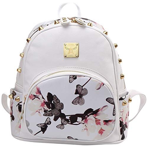 American Shield a-001 Girl's Mini Waterproof IPad Backpack Casual Lightweight Light Strong Sport Daypack 06051, White ()