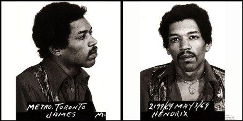 Mugshot - Jimi Hendrix - Canvas Art Poster. Size: 12