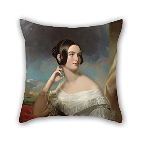 Elegancebeauty The Oil Painting Samuel Bell Waugh - Miss Jane Mercer Pillowcase Of ,16 X 16 Inches / 40 By 40 Cm Decoration,gift For Teens Girls,teens,pub,home,coffee House,girls (both (Gold Mercer Watch)