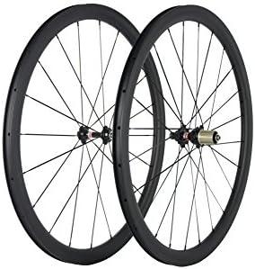 Sunrise Bike - Rueda de Carbono para Bicicleta de Carretera con buje Novatec (38 mm, 25 mm): Amazon.es: Deportes y aire libre