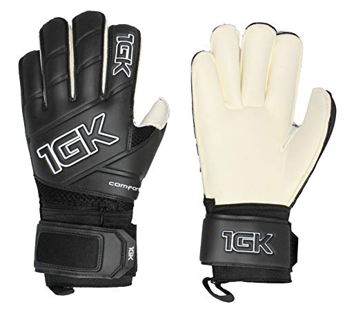1GK Tribal SP + Fingersave Goalkeeper Glove - Customizable and Removeable Professional Finger Protection (Sizes 6-11) Roll Cut Design for Youth (Boys & Girls) and Adult (Men & Women) (roll Cut, 6)