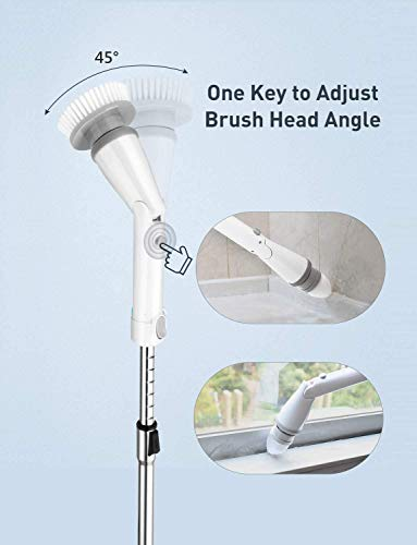 Homitt Electric Spin Scrubber Power Brush Shower Scrubber Cordless and Handheld
