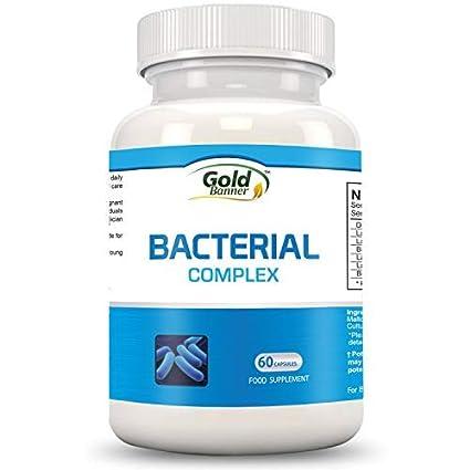 Complejo bacterianos avanzado que fomenta la flora intestinal - 60 cápsulas vegetarianas para tomar una vez al día- Mejora el funcionamiento del ...