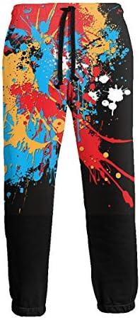 グラフィティ アート スポーツパンツ スウェットパンツ ウエストにドローストリングとサイドにポケット付き