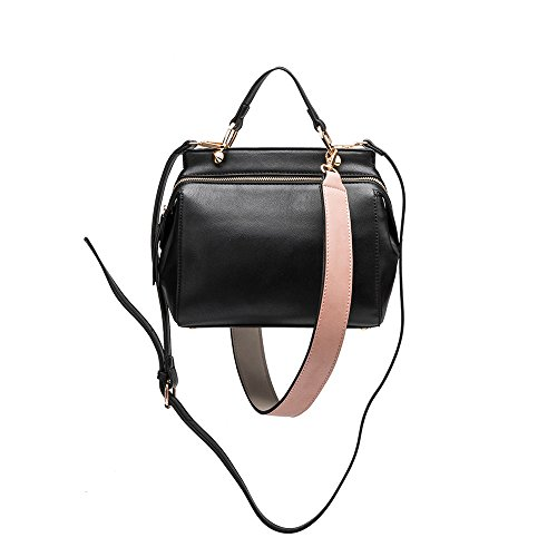 Leather Handbag Black Vegan Noelle Crossbody Melie Noelle Bianco Vintage Inspired wqxUpxKRXB