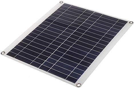 XULJ Sonnenkollektor 50W 18V 435 * 200 * 2.5mm Polykristalline Solar-Panel for RV Dach/Boot Sonnenkollektor tragbar (Color : Black, Size : 25W)
