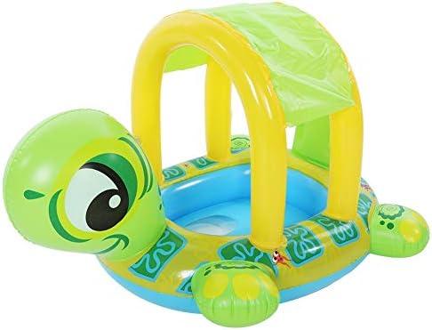Flotador de Natación para Bebés con sombrilla ajustable Dibujos animados Animal Juguetes seguros Accesorios Asiento inflable Barco Niños Verano ...