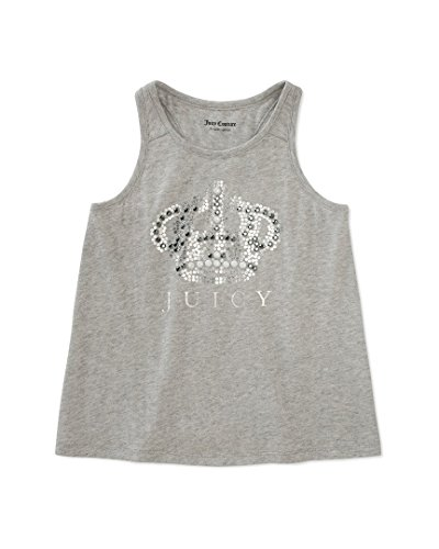 (Juicy Couture Little/Big Girls Assorted Tops (12-14, Gray Crown))