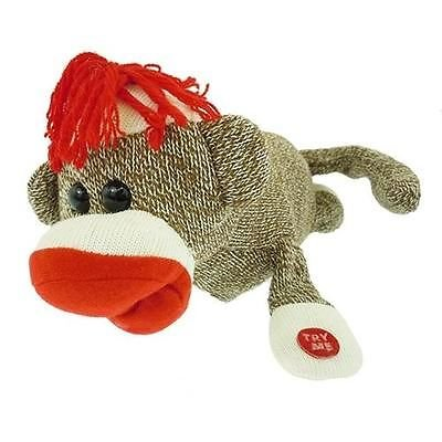 LOL Rollover Sock Monkey Battery Operated Toy Rollover and Laughing Out Loud Pet (Laughing Monkey Toy)