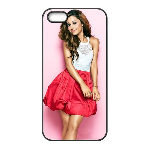 Ariana Grande 001 coque iPhone 4 4S cellulaire cas coque de téléphone cas téléphone cellulaire noir couvercle EEEXLKNBC23071