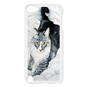 For Ipod Touch 5 Smart Cat Art Pattern Protective Back Case-Style-13