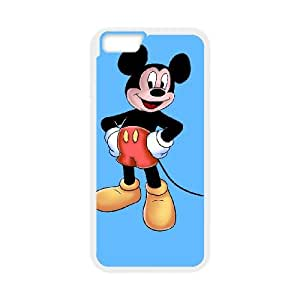 Mickey Mouse 011 iPhone 6 Plus 5.5 Inch Cell Phone Case White TPU Phone Case RV_619844