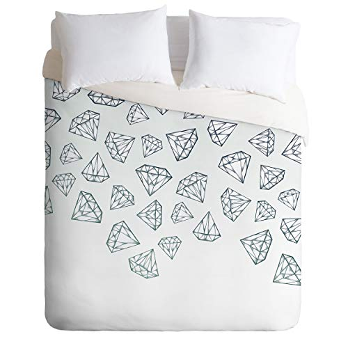 Society6 Barlena Diamond Shower Full/Queen Comforter and 2 Pillow Shams Set, Gray from Society6