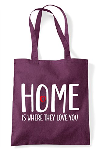 Tote Family They Home Is Plum Bag Where Love Shopper Statement You U001wgrq