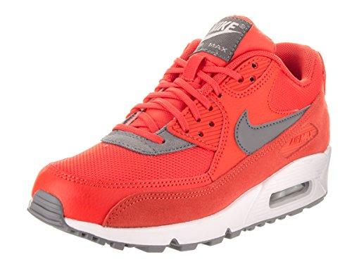 NIKE Women's Air Max 90 Max Orange/Cool Grey/White Running Shoe 9 Women US (Women Nike Air Max Orange)