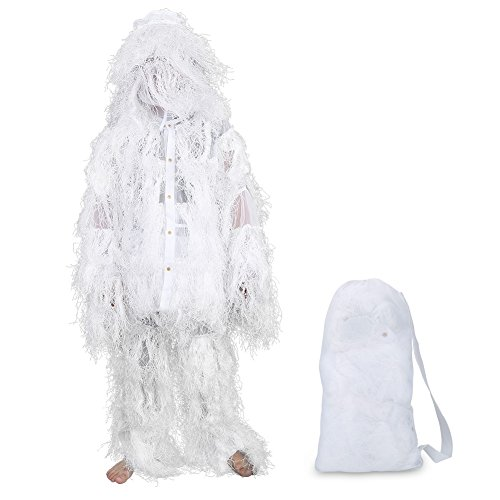 Hunting Suit White, Leafy Woodland Clothing for Snowfield Bird Watching Photograph