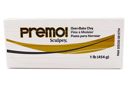 Sculpey Premo Art Clay, White (Best Type Of Clay To Sculpt With)