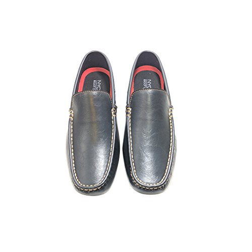 NYC Tough Boot Company Men's Vegan Casual Lightweight Slip-on Loafers Moccasins Driving Shoes by (9, Black) by NYC Tough Boot Company