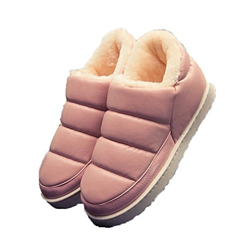 Slipper Booties Pink Boots Women Flats Slippers Indoor Winter Waterproof Outdoor nOnf6Uqw