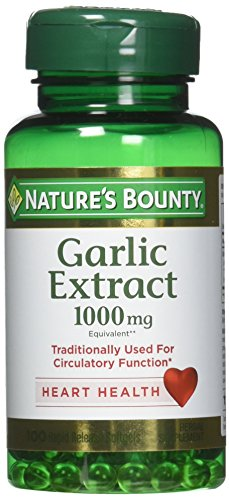 Nature's Bounty Garlic Extract 1000 mg, 100 Rapid Release Softgels (Pack of 3)