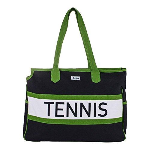 Ame & Lulu Tennis Varsity Court Bag (Navy/Green)