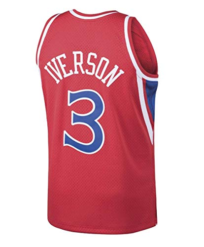 Mitchell & Ness Allen Iverson Philadelphia 76ers NBA Red Throwback Jersey (3X-Large)