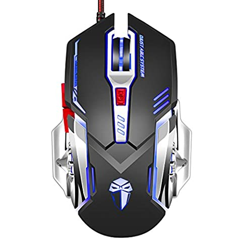 Ansot X5 Gaming Mouse wired with colorful led, 3200 DPI 5 Buttons Ergonomic Gaming Mouse for PC (Gaming Mouse Eblue)