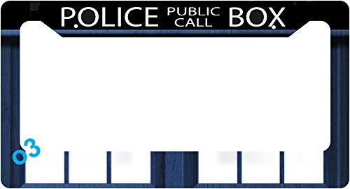 dr-who-tardis-police-call-box-collage-license-plate-frame-alumminum-car-auto-call-box