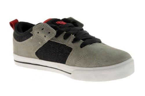 Fallen Clipper grey/black/red Kids Shoes