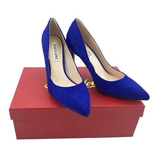 JOY IN LOVE Women's Pumps Shoes Middle Heels Pointy Toe Dress Pump Stilettos