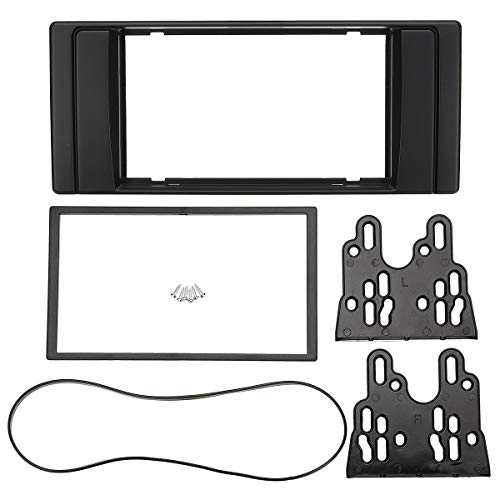 Iris-Shop - 178 x 102mm/178 x 100mm 2 Din Car Stereo Radio Fascia Panel Plate Frame Dash Mount Kit Adapter for BMW 5 Series E53 E39