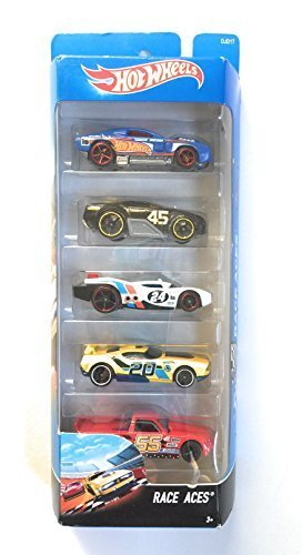(Hot Wheels, 2016 Race Aces 5-Pack )