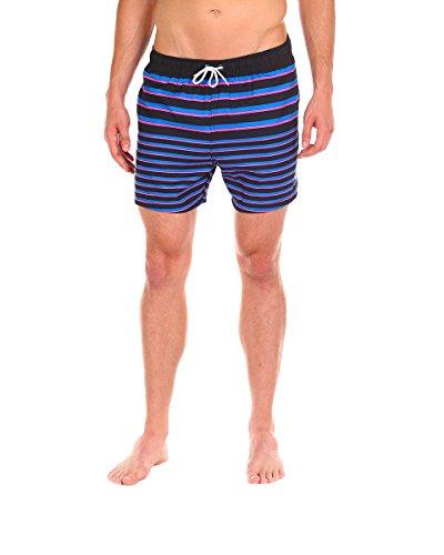 Men's Swim Short - The PB&Jays Striped Swim Trunk by Cabana Bro, Medium